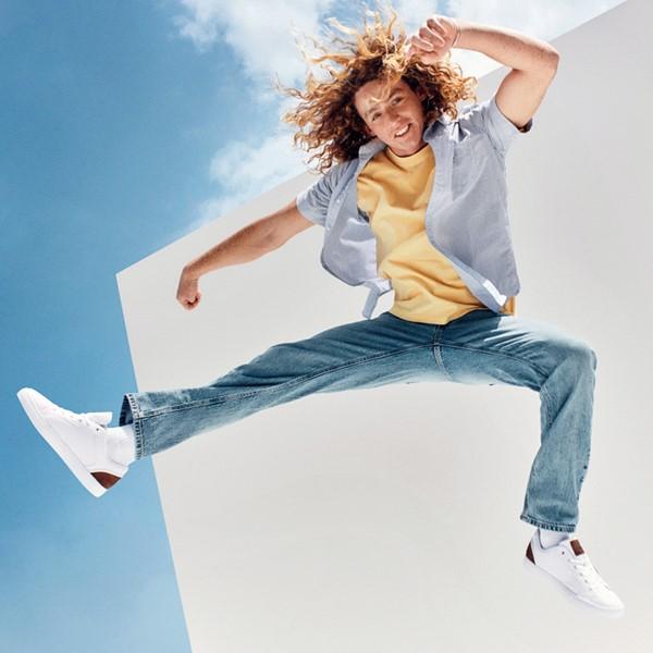 Main view of Mens Levi's 501® Jeffrey Casual Shoe - White