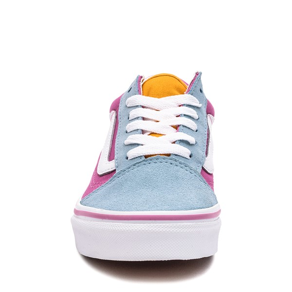 alternate image alternate view Vans Old Skool Color-Block Skate Shoe - Little Kid - Fuchsia / Blue / YellowALT4