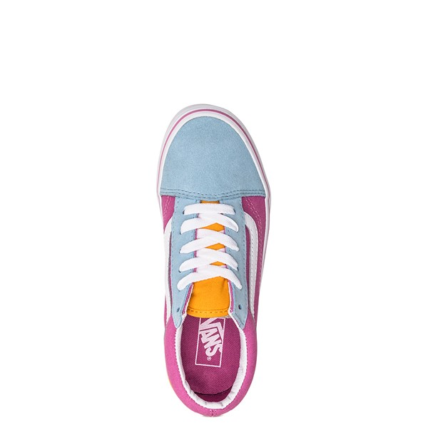 alternate image alternate view Vans Old Skool Color-Block Skate Shoe - Little Kid - Fuchsia / Blue / YellowALT4B
