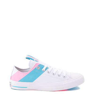 Main view of Converse Chuck Taylor All Star Lo Pride Sneaker - White / '90s Pink / Gnarly Blue