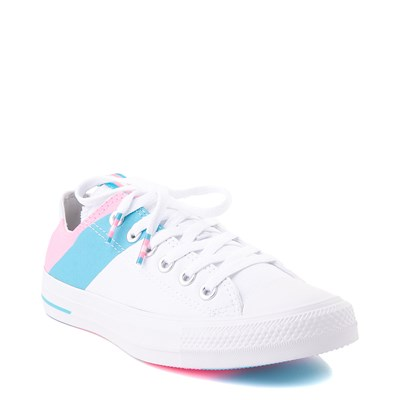 Alternate view of Converse Chuck Taylor All Star Lo Pride Sneaker - White / '90s Pink / Gnarly Blue