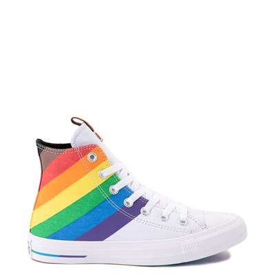 Main view of Converse Chuck Taylor All Star Hi Pride Sneaker - White / Rainbow