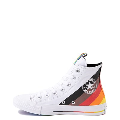 Alternate view of Converse Chuck Taylor All Star Hi Pride Sneaker - White / Rainbow