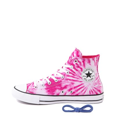 Alternate view of Converse Chuck Taylor All Star Hi Sneaker - White / Cerise Pink Tie Dye