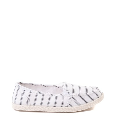 Main view of Womens Roxy Minnow Slip On Casual Shoe - White / Black