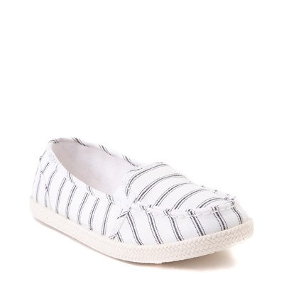 Alternate view of Womens Roxy Minnow Slip On Casual Shoe - White / Black