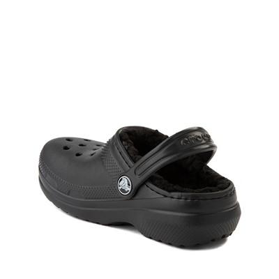 Alternate view of Crocs Classic Fuzz-Lined Clog - Little Kid / Big Kid - Black