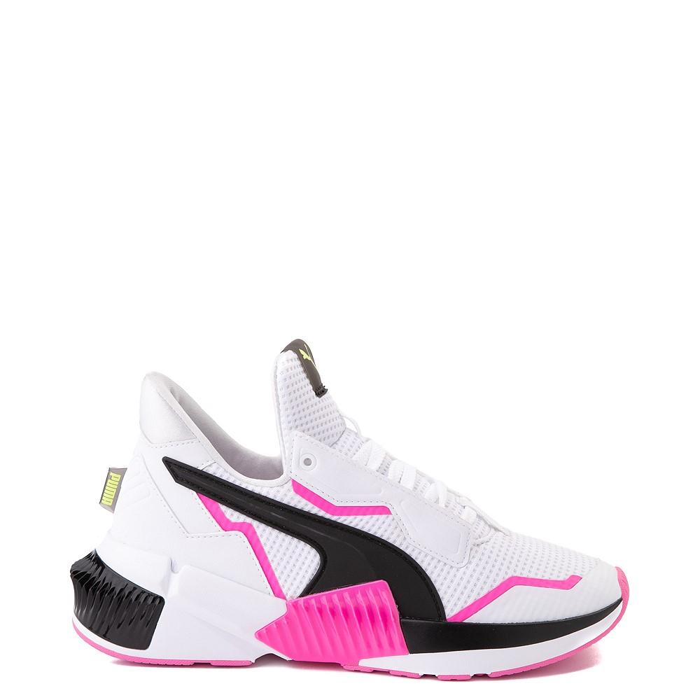 Womens Puma Provoke XT Athletic Shoe - White / Black / Pink