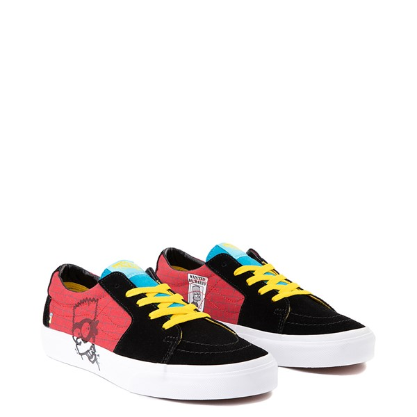 alternate image alternate view Vans x The Simpsons Sk8 Low El Barto Skate Shoe - Black / RedALT1