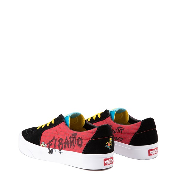 alternate image alternate view Vans x The Simpsons Sk8 Low El Barto Skate Shoe - Black / RedALT2