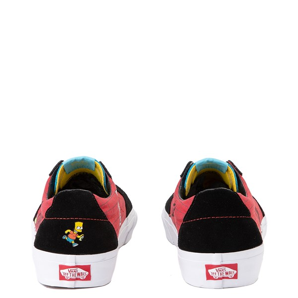 alternate image alternate view Vans x The Simpsons Sk8 Low El Barto Skate Shoe - Black / RedALT2B