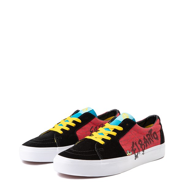 alternate image alternate view Vans x The Simpsons Sk8 Low El Barto Skate Shoe - Black / RedALT3