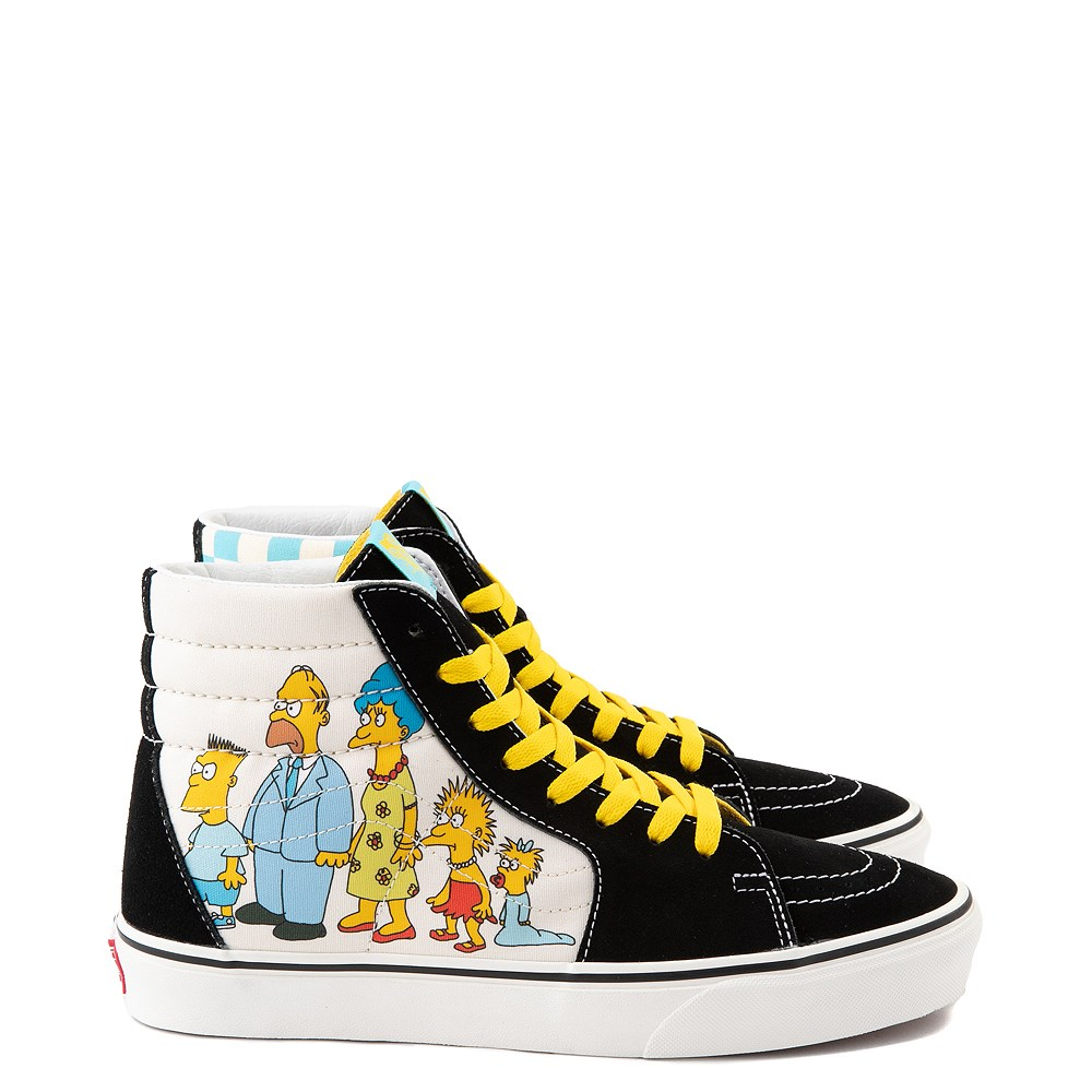 Vans x The Simpsons Sk8 Hi Simpsons Family 1987-2020 Skate Shoe - Black
