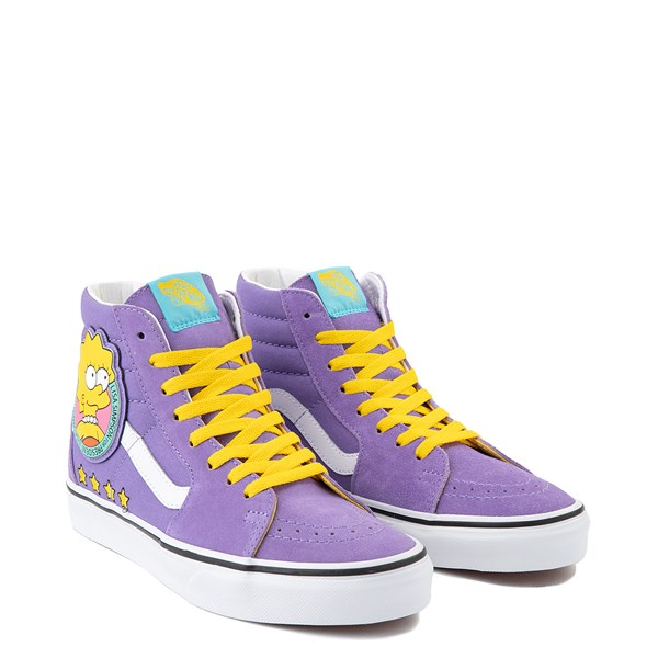 alternate image alternate view Vans x The Simpsons Sk8 Hi Lisa For President Skate Shoe - PurpleALT1