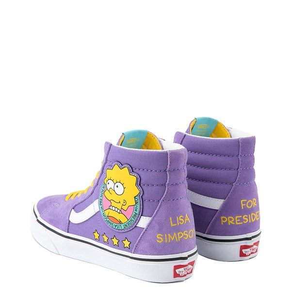 alternate image alternate view Vans x The Simpsons Sk8 Hi Lisa For President Skate Shoe - PurpleALT2