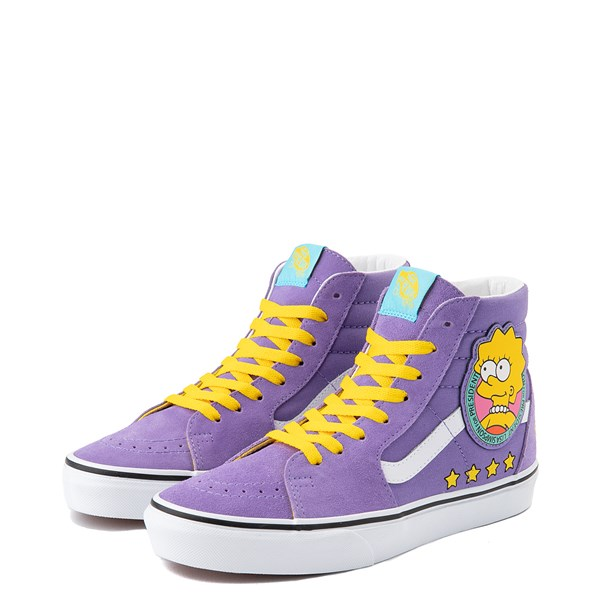 alternate image alternate view Vans x The Simpsons Sk8 Hi Lisa For President Skate Shoe - PurpleALT3