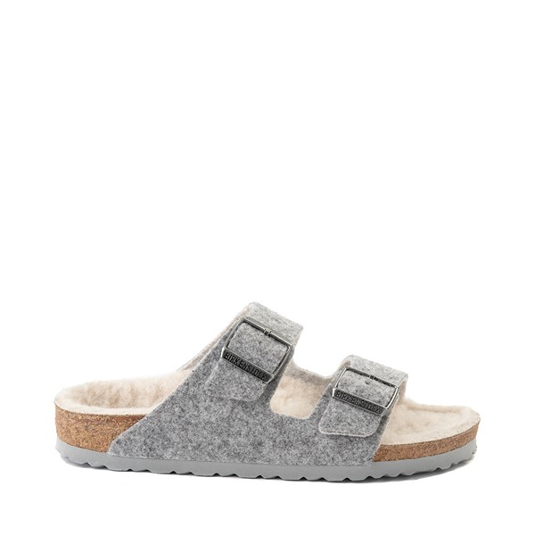 Main view of Womens Birkenstock Arizona Wool Felt Sandal - Light Grey