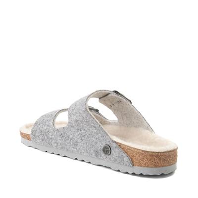 Alternate view of Womens Birkenstock Arizona Wool Felt Sandal - Light Grey