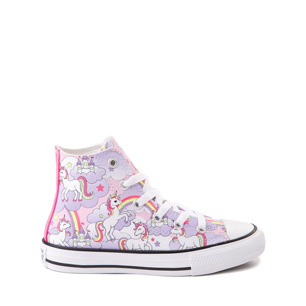 Main view of Converse Chuck Taylor All Star Unicorn Rainbow Hi Sneaker - Little Kid / Big Kid - Pink Foam