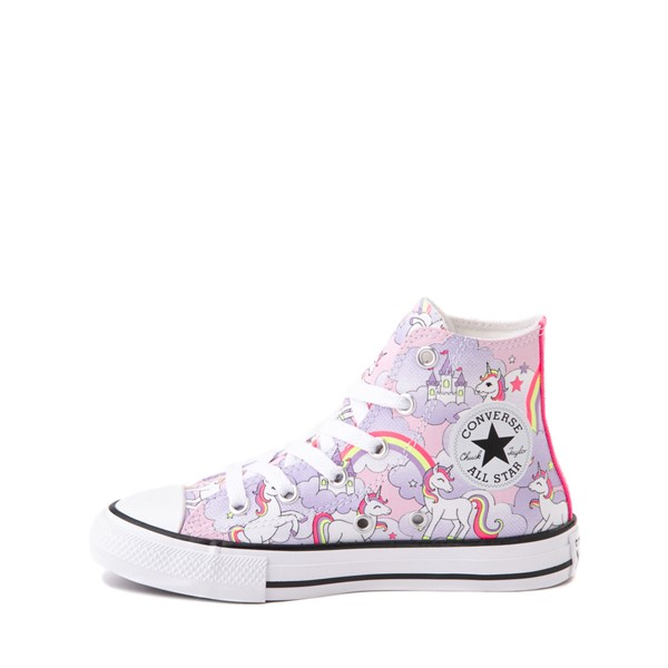 alternate image alternate view Converse Chuck Taylor All Star Unicorn Rainbow Hi Sneaker - Little Kid / Big Kid - Pink FoamALT1