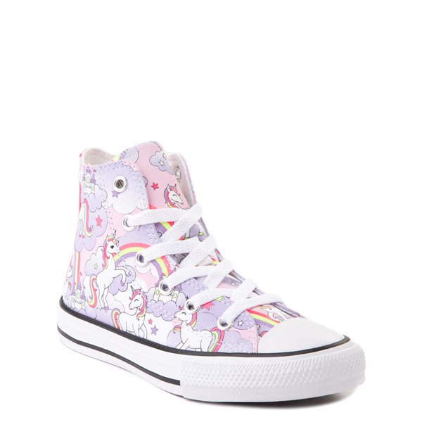 alternate image alternate view Converse Chuck Taylor All Star Unicorn Rainbow Hi Sneaker - Little Kid / Big Kid - Pink FoamALT1B