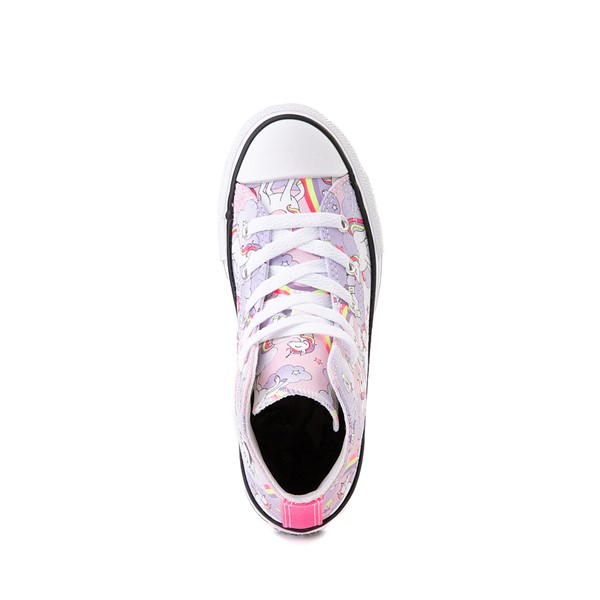 alternate image alternate view Converse Chuck Taylor All Star Unicorn Rainbow Hi Sneaker - Little Kid / Big Kid - Pink FoamALT2
