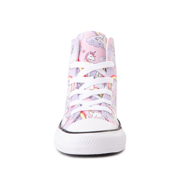 alternate image alternate view Converse Chuck Taylor All Star Unicorn Rainbow Hi Sneaker - Little Kid / Big Kid - Pink FoamALT4