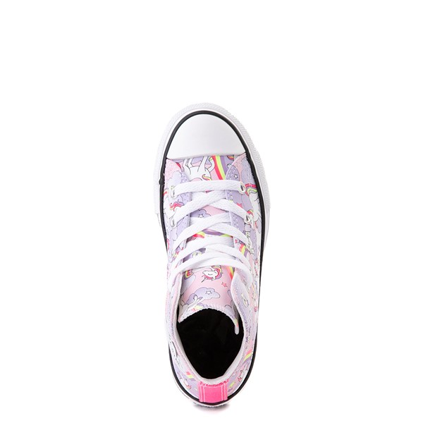 alternate image alternate view Converse Chuck Taylor All Star Unicorn Rainbow Hi Sneaker - Little Kid / Big Kid - Pink FoamALT4B