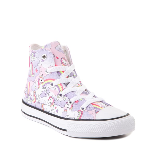 alternate image alternate view Converse Chuck Taylor All Star Unicorn Rainbow Hi Sneaker - Little Kid / Big Kid - Pink FoamALT5