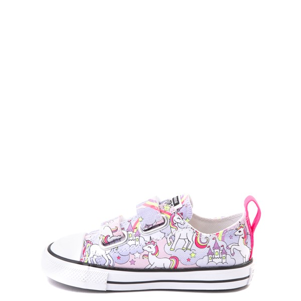 alternate image alternate view Converse Chuck Taylor All Star 2V Unicorn Rainbow Lo Sneaker - Baby / Toddler - Pink FoamALT1