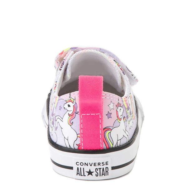 alternate image alternate view Converse Chuck Taylor All Star 2V Unicorn Rainbow Lo Sneaker - Baby / Toddler - Pink FoamALT4