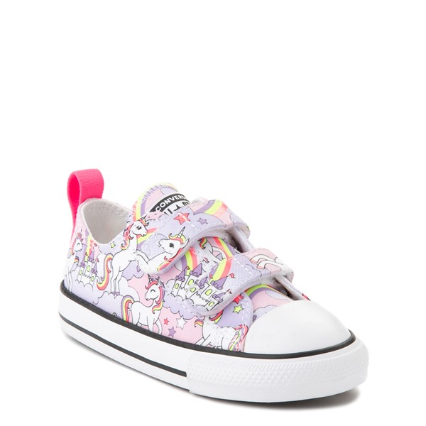 alternate image alternate view Converse Chuck Taylor All Star 2V Unicorn Rainbow Lo Sneaker - Baby / Toddler - Pink FoamALT5