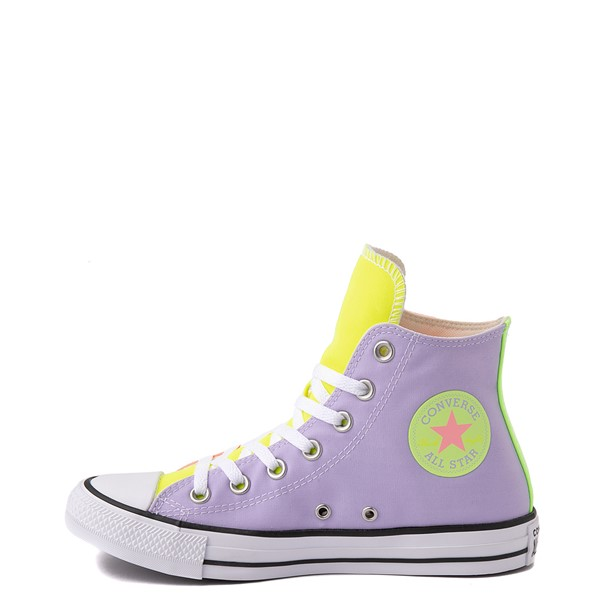 alternate image alternate view Converse Chuck Taylor All Star Hi Sneaker - Neon Color-BlockALT1