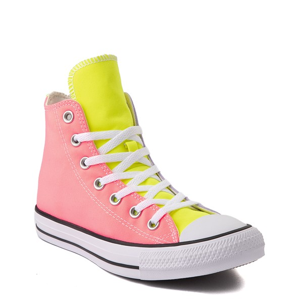 alternate image alternate view Converse Chuck Taylor All Star Hi Sneaker - Neon Color-BlockALT1B
