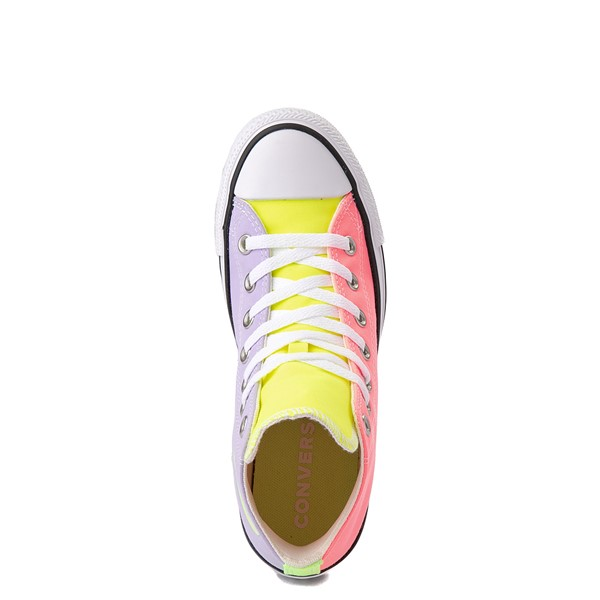 alternate image alternate view Converse Chuck Taylor All Star Hi Sneaker - Neon Color-BlockALT2