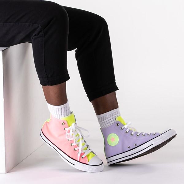 alternate image alternate view Converse Chuck Taylor All Star Hi Sneaker - Neon Color-BlockB-LIFESTYLE1
