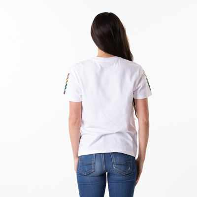 Alternate view of Womens Vans Checkmate Boyfriend Tee - White / Multi
