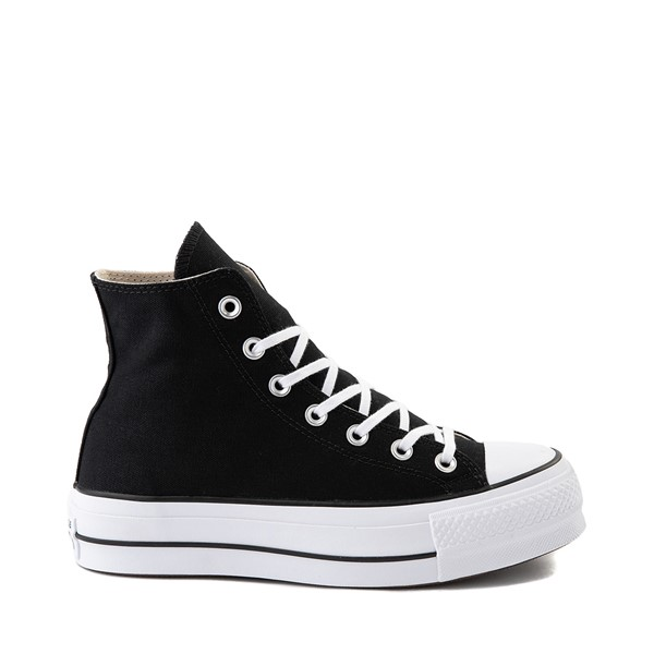 Womens Converse Chuck Taylor All Star Lift Hi Sneaker - Black / White