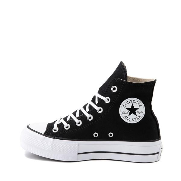 alternate image alternate view Womens Converse Chuck Taylor All Star Lift Hi Sneaker - Black / WhiteALT1