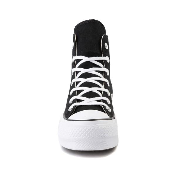 alternate image alternate view Womens Converse Chuck Taylor All Star Lift Hi Sneaker - Black / WhiteALT4