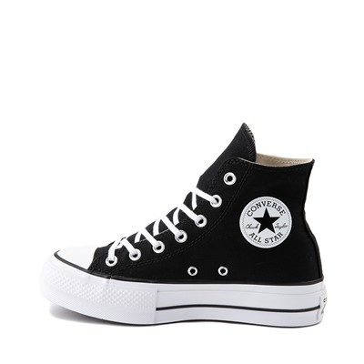 Alternate view of Womens Converse Chuck Taylor All Star Lift Hi Sneaker - Black / White
