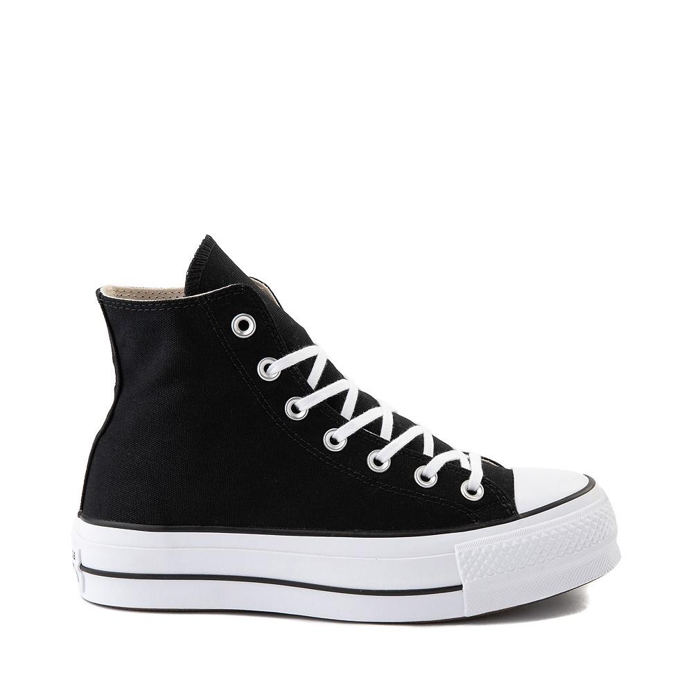 Womens Converse Chuck Taylor All Star Lift Hi Sneaker - Black / White