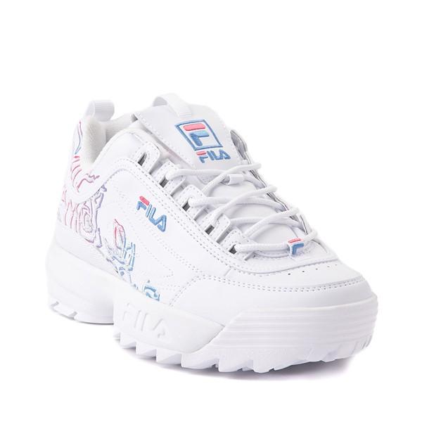 alternate view Womens Fila Disruptor 2 Rose Athletic Shoe - WhiteALT5