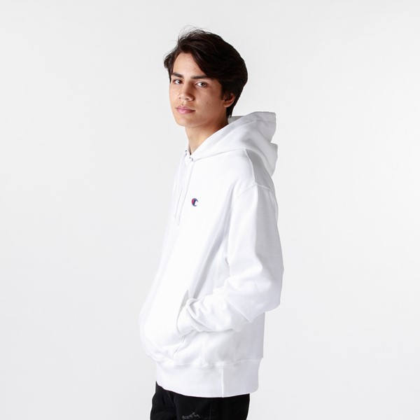 alternate image alternate view Mens Champion Reverse Weave Hoodie - WhiteALT3