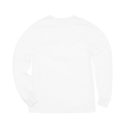 Alternate view of Mens Champion Heritage Long Sleeve Tee - White