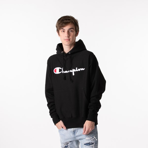Mens Champion Reverse Weave Hoodie - Black