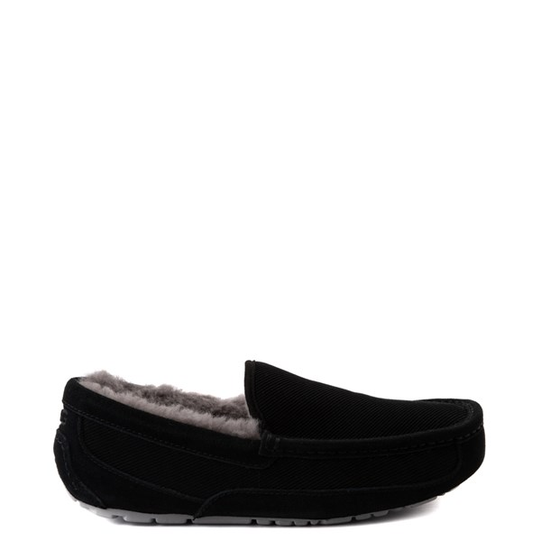 Main view of Mens UGG® Ascot Corduroy Slip On Casual Shoe - Black