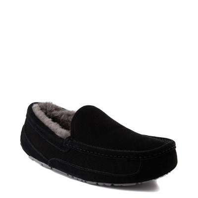 Alternate view of Mens UGG® Ascot Corduroy Slip On Casual Shoe - Black
