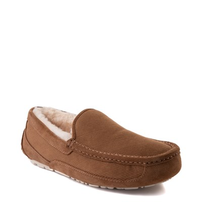 Alternate view of Mens UGG® Ascot Corduroy Slip On Casual Shoe - Chestnut
