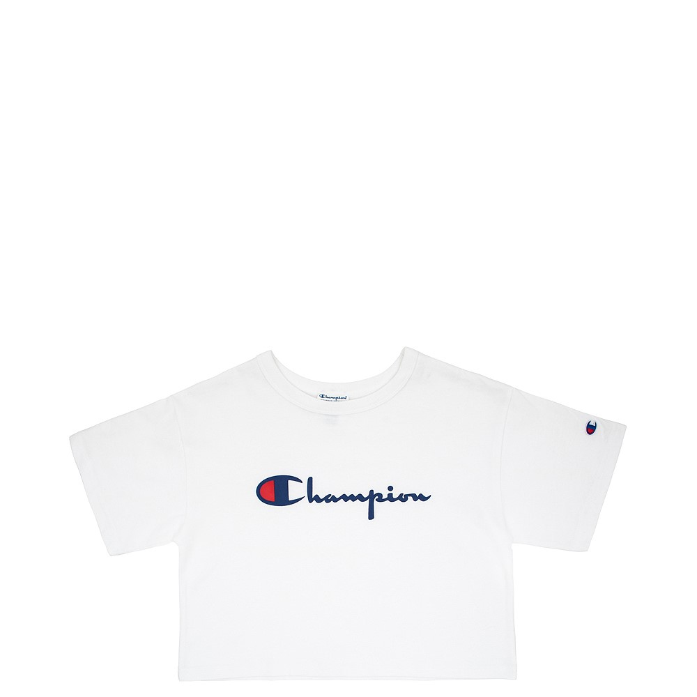 Womens Champion Cropped Tee - White